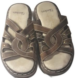 Skechers brown leather sandals